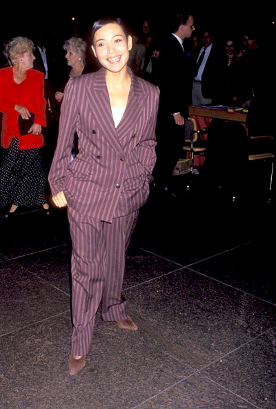 Joan Chen photographed by Ron Galella at the West Hollywood Premiere of A Bronx Tale at DGA Theatre, 1994