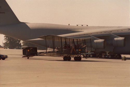 Vickers Vimy bomber photographed by Mike Dial of USMC, 1994.8.21