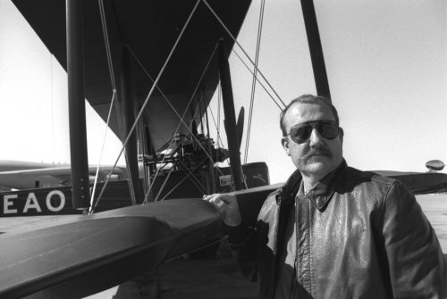 Vickers Vimy bomber co-pilot Lang Kidby photographed by Mike Dial of USMC, 1994.8.21